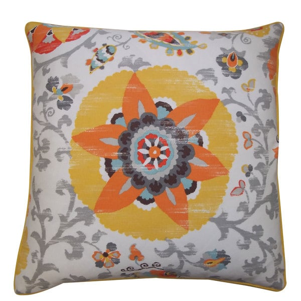 Petal Yellow Outdoor Throw Pillow
