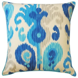 Arlekin Blue Outdoor Throw Pillow