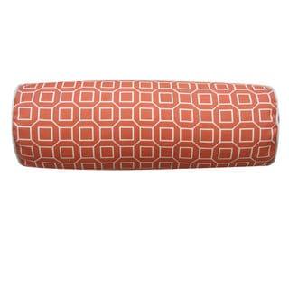 Hexagon Orange Outdoor Throw Pillow