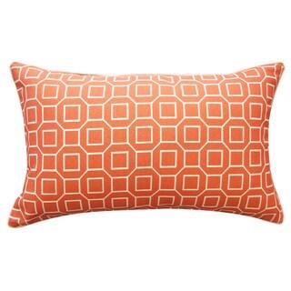 12 x 20-inch Hexagon Orange Outdoor Throw Pillow