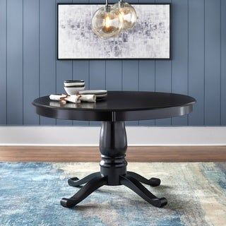 Alexa Black Round Pedestal Dining Table