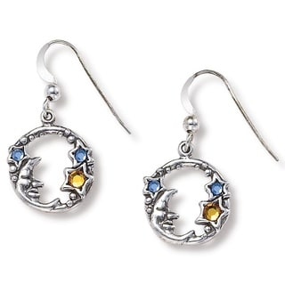 Lillith Star Silver Moon/ Stars Earrings