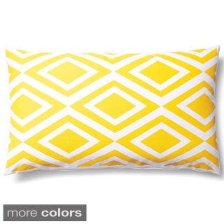 5 Surry Lane Geometric Diamond Indoor/ Outdoor Lumbar Pillow