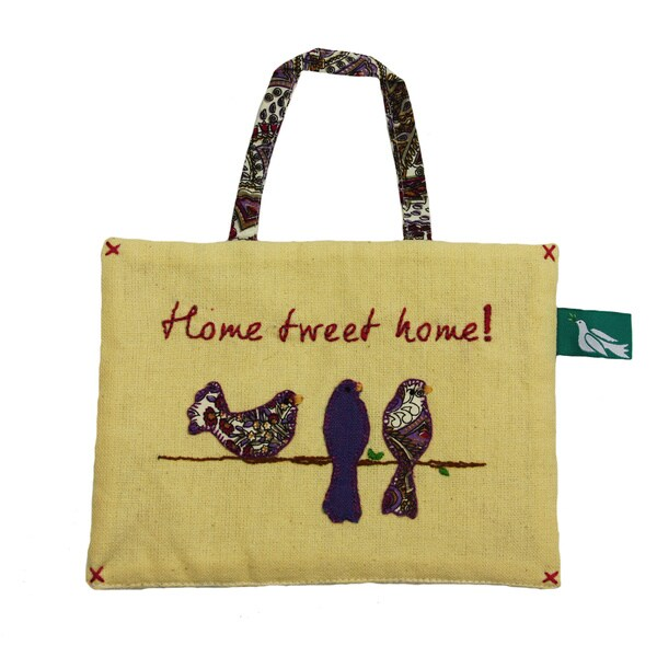 Hand-made 'Home Tweet Home' Hanging Sign (India)
