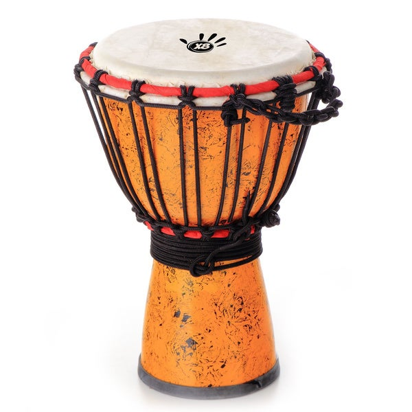 Hand-crafted Travel-size Djembe Drum (Indonesia)