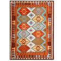 Herat Oriental Afghan Hand-woven Tribal Kilim Light Blue/ Red Wool Rug (4'10 x 6'6)