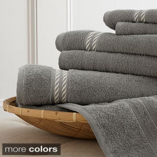 Egyptian Cotton Embroidered Rope 6-piece Towel Set