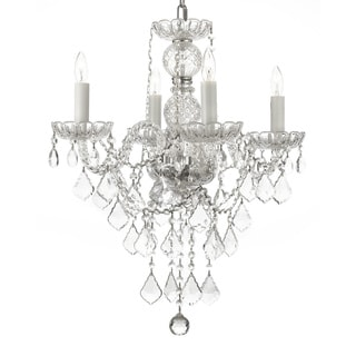 Venetian Style All Crystal 4-light Chandelier