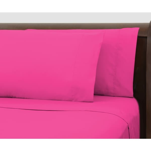 Bright Ideas Pink Wrinkle-resistant Sheet Set