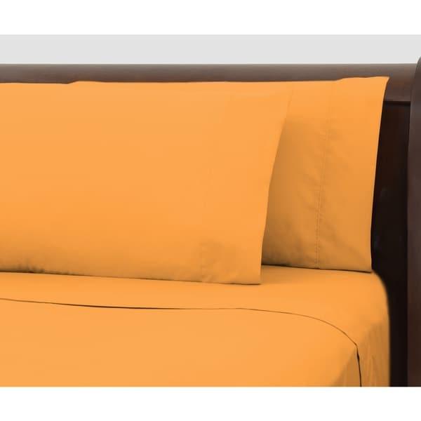 Bright Ideas Tangerine Wrinkle-resistant Sheet Set