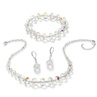 PalmBeach Aurora Borealis Crystal 3-piece Jewelry Set Bold Fashion