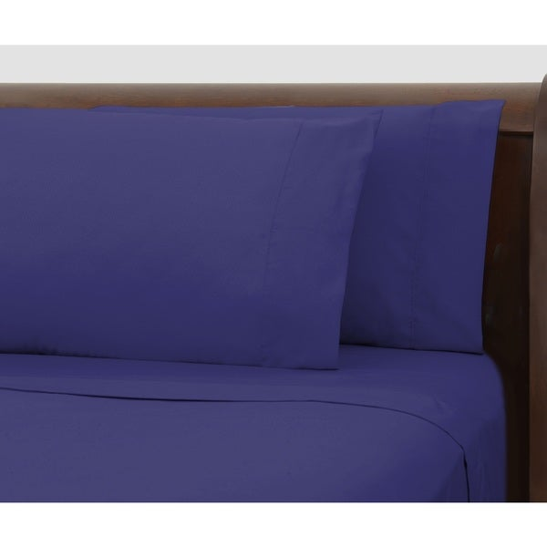 Bright Ideas Purple Wrinkle-resistant Sheet Set
