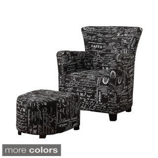 Alicia-Club Chair with Ottoman