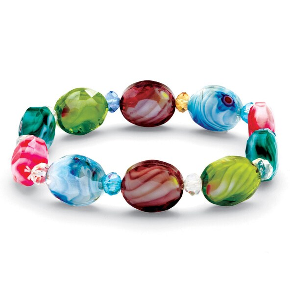 PalmBeach Kaleidoscope Crystal Stretch Bracelet Color Fun
