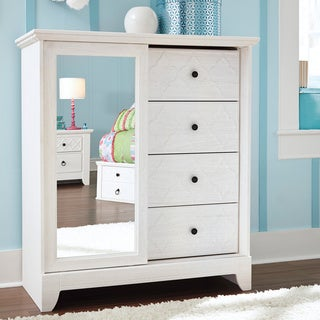 Signature Designs by Ashley Kids Iseydona White Dressing Chest
