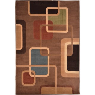 Miranda Contemporary Brown Area Rug (7'10 x 10'10)