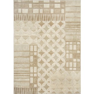 Fresh Transitional Light Grey Area Rug (5'3 x 7'7)