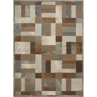 Fresh Grey Contemporary Area Rug (5'3 x 7'7)