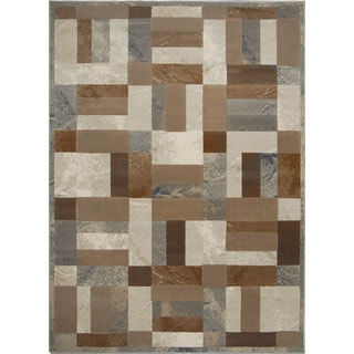 Fresh Grey Contemporary Area Rug (7'10 x 10'10)