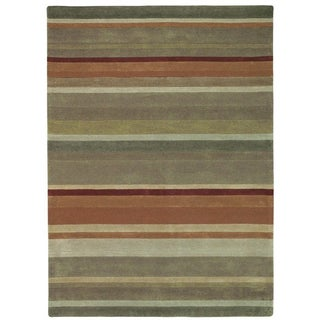 Christopher Knight Home Trio Stripes Green Area Rug (5' x 7'6)