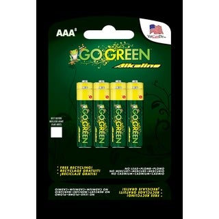 Go Green AAA Alkaline Battery 8-pack