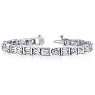 14k White Gold 8 1/2ct TDW Diamond Tennis Bracelet (F-G, SI2-SI3)