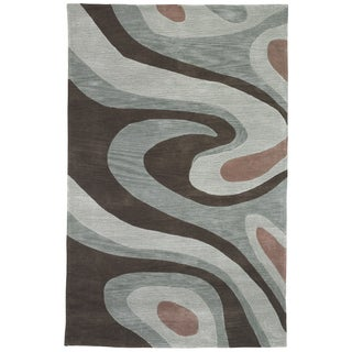 Sands Trio Milky Way Brown Area Rug (5' x 7'6)