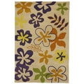 Christopher Knight Home Modern Highlights Flower Power Beige Area Rug (5' x 8')