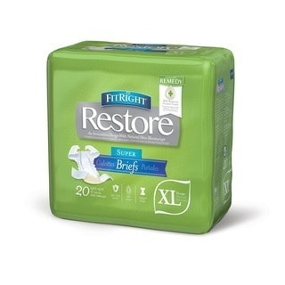 Medline FitRight Restore Briefs with Remedy Skin Repair Cream (80 Count)