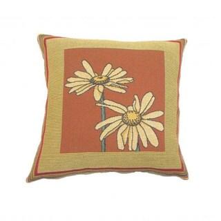 French Woven Daisy Design Decorative Throw Pillow