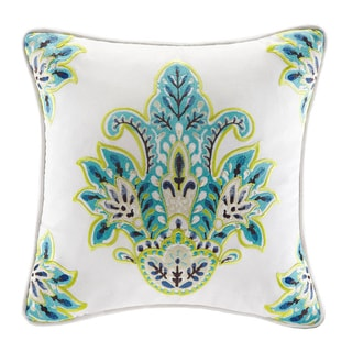 Echo Serena Square Embroidered Throw Pillow