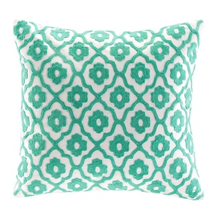 Echo Serena Square Chain Stitching Embroidered Throw Pillow
