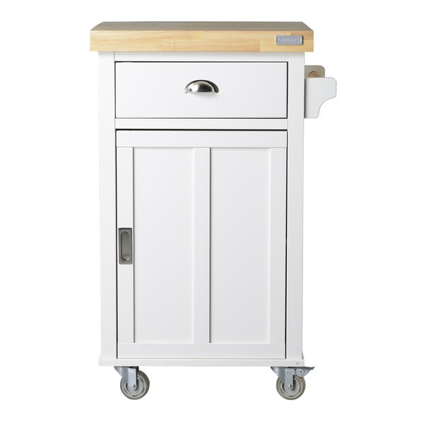 Bard Collection White 2-shelf/ 1-drawer Kitchen Cart