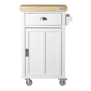 Bard Collection White 2-shelf Kitchen Cart