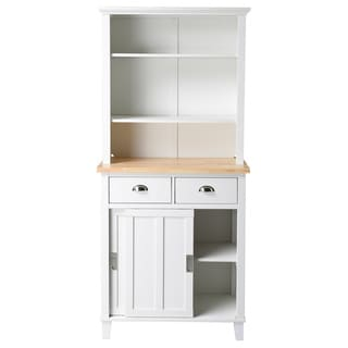 Bard 2-shelf White Kitchen Storage Center