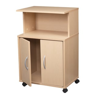 Maple 3-shelf Laminate Kitchen Cart