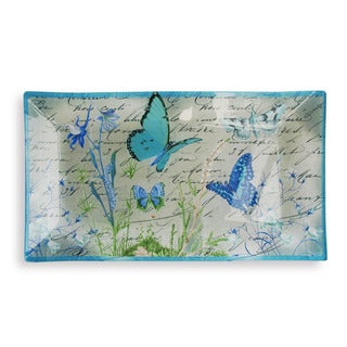 Notion Blue Butterfly Rectangular Tray