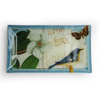 Notions Botanique Blue Rectangular Tray