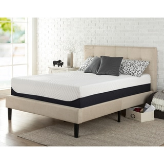Priage Pillow Top 13-inch King-size Green Tea Memory Foam Mattress