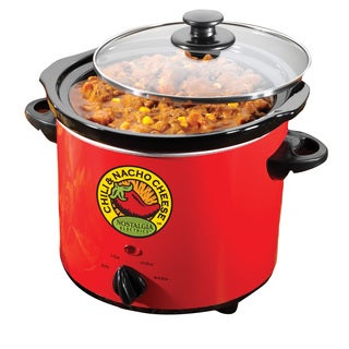 Nostalgia Electrics Fiesta Series 4-quart Chili and Nacho Cheese Fiesta Pot