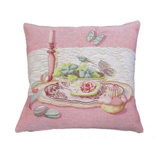 Corona Decor French Woven Floral Place Setting Design Decorative Throw Pillow