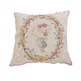 Corona Decor French Woven Floral Design Decorative Throw Pillow