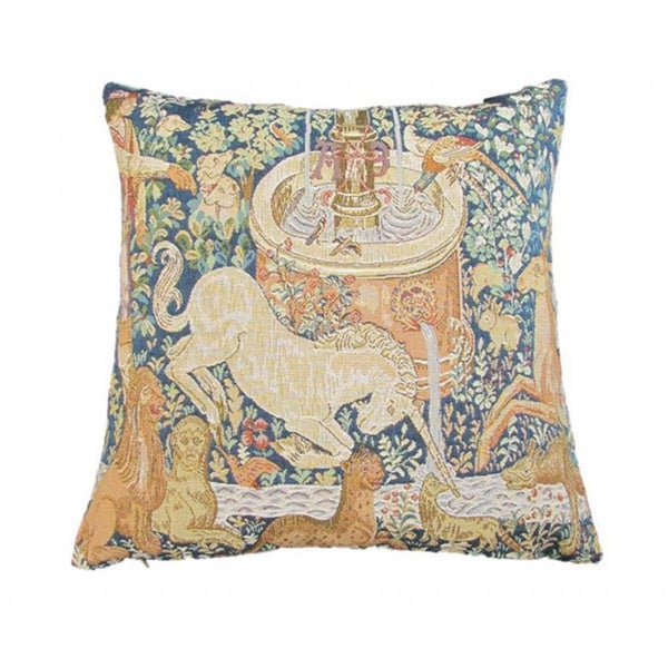 French Woven Animal Design Decorative Throw Pillow