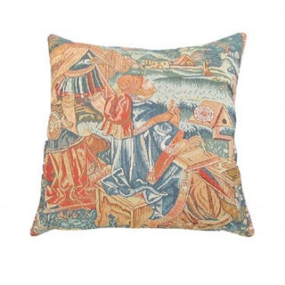 French Woven Country Design Decorative Throw Pillow