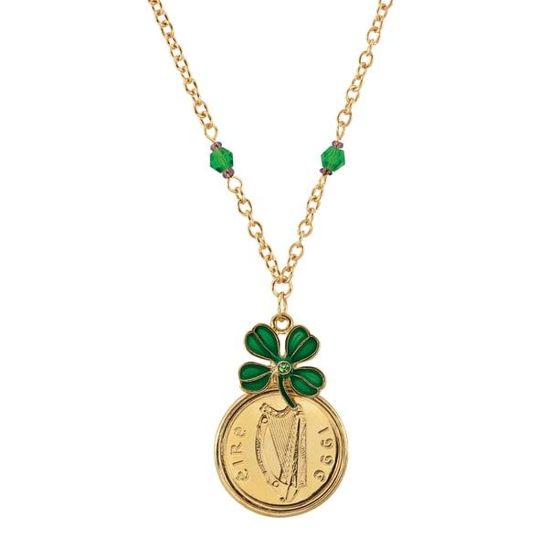 Gold Layered Irish Penny Pendant