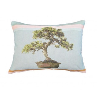 French Woven Bonsai Design Decorative Throw Pillow