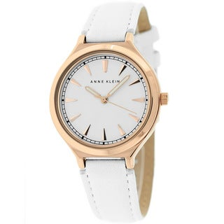 Anne Klein Women's AK-1504RGWT Classic White Leather Watch