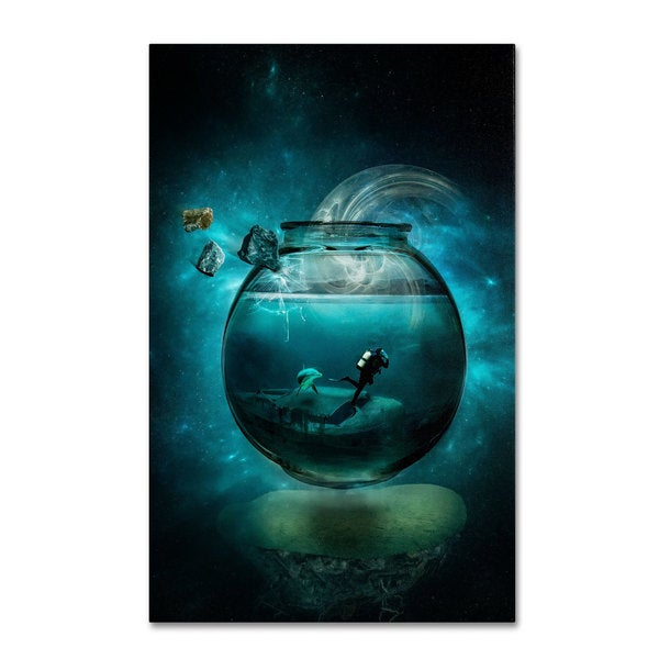 Erik Brede 'Two Lost Souls' Canvas Art