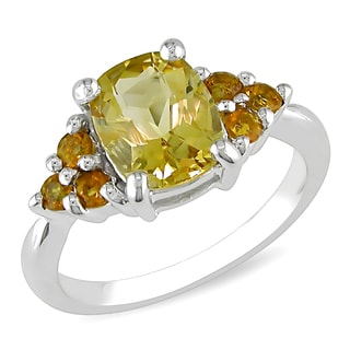 M by Miadora Sterling Silver 2ct TGW Citrine Cocktail Ring
