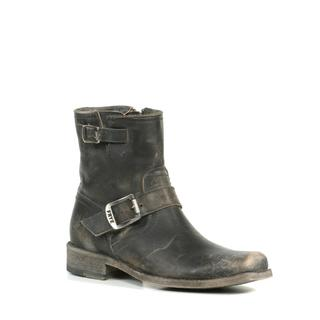 Frye Women's Smith Engineer Short Boots in Black